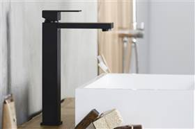 Integra Black Tall Lavabo Bataryası